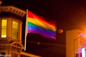 Bandera del Orgullo en El Castro